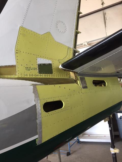 Man working on Airplane Engine